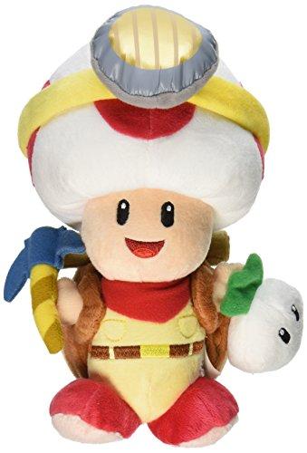 r Plüschtier Kuscheltier Figur: Captain Toad / Toad-Kapitän Stehend 23 cm (LBT) ()