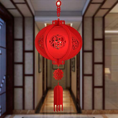 bration Decor Vlies-Laterne Rot Chinesische Neujahrs-Laterne Frühjahrsdekoration Festliche Ornamente Rote Chinesische Laternen (1 x Laterne) ()