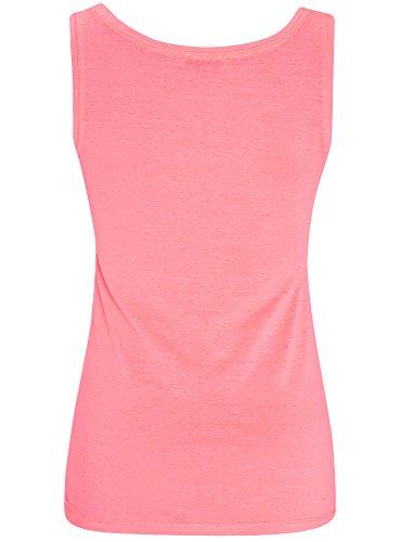 oodji Ultra Damen Trägershirt Basic Rosa (4D00Y)