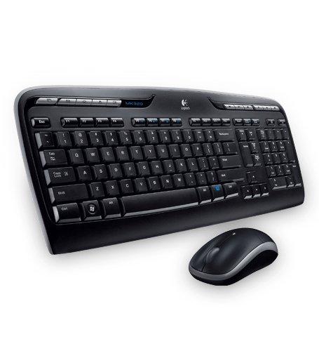 Logitech MK330, Pack de teclado y ratón (2.4 GHz, inalámbrico) color negro
