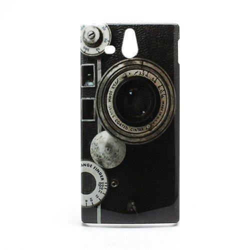 Hard Case / Cover caméra Sony Xperia U / ST25i avec l'objectif Range Finder étui de protection couverture arrière de Shell Vintage