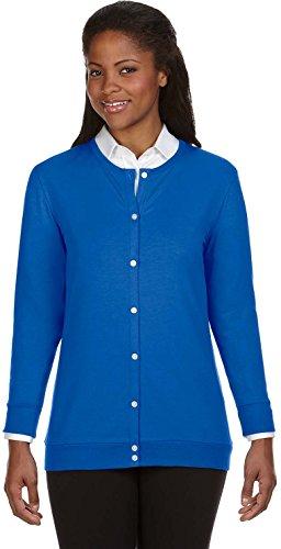 Devon & Jones DP181W Ruban Cardigan pour un ajustement Parfait Bleu - Bleu (French Blue)