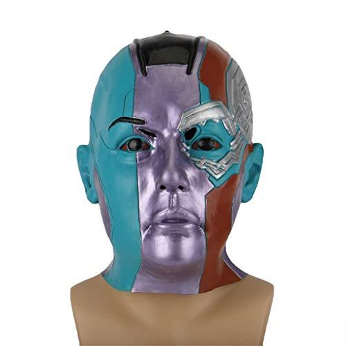Halloween Roboter Kostüm - QWEASZER Wächter der Galaxis Roboter Maske Marvel Avengers Nebel Maske Halloween Cosplay Erwachsenen Maskerade Kostüm Prop,Nebula Mask-OneSize