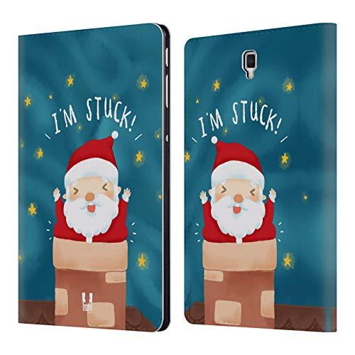 Head Case Designs Kamin Santa Unglücke Leder Brieftaschen Huelle kompatibel mit Samsung Galaxy Tab S4 10.5 (2018) -