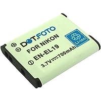 Dot.Foto remplacement Nikon EN-EL19 batterie - 3,7v / 700mAh - garantie de 2 ans [modèles indiqués ci-dessous]