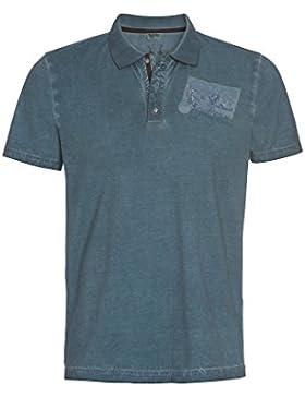Distler Herren Trachten Poloshirt Emil - Vintage dunkelblaues T-Shirt Trachtenshirt Kurzarmshirt Polo Baumwollshirt...
