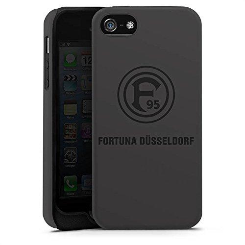 Apple iPhone 7 Silikon Hülle Case Schutzhülle Fortuna Düsseldorf Fanartikel F95 grau Tough Case matt