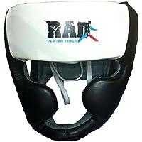 Rad boxeo MMA Protector Cascos UFC Lucha Guardia Jefe Sparring Casco Junior, Senior Unisex, blanco / negro
