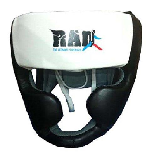 Rad boxeo MMA Protector Cascos UFC Lucha Guardia Jefe Sparring Casco Junior, Senior Unisex, white &...