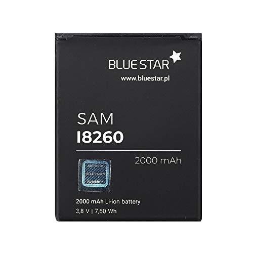 Blue Star Premium - Li-Ion Lithium Akku 2000 mAh Kapazität Schnellladung 2.0 Kompatibel mit Samsung Galaxy i8260 / Galaxy Core Duos I8262  dem