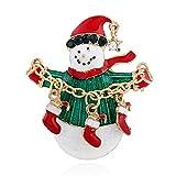 D&D-Modeschmuck Weihnachten | Geschenk | Broschen | Anstecknadeln | Bekleidung, kreativität, socken, schneemann, brosche.