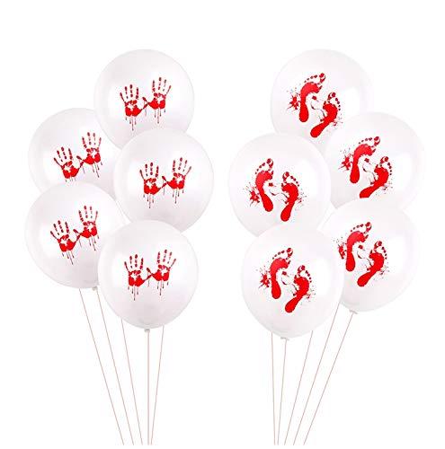 (Yalulu 50 Stück Halloween Ballons Latex Luftballons fur Halloween Designs Luftballonen Party Dekorationen)