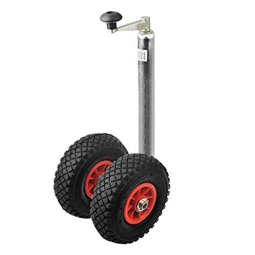 Preisvergleich Produktbild ProPlus Zwillingsrad Doppelstützrad Anhänger Bugrad Anhängerstützrad Deichsel Rad Reifen