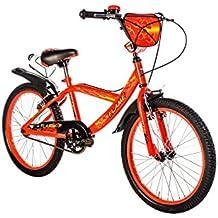 "F.lli Schiano Flame - Bicicleta para niño, color negro / rojo, 20"""