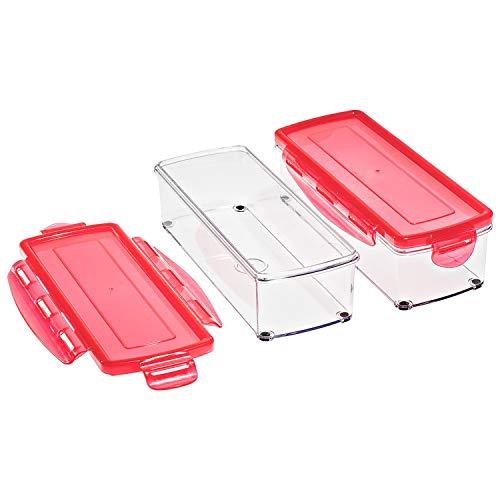 Genius Nicer Dicer smart Auffangbehälter   4 Teile   Frischhaltedosen zum Aufbewahren von Lebensmitteln