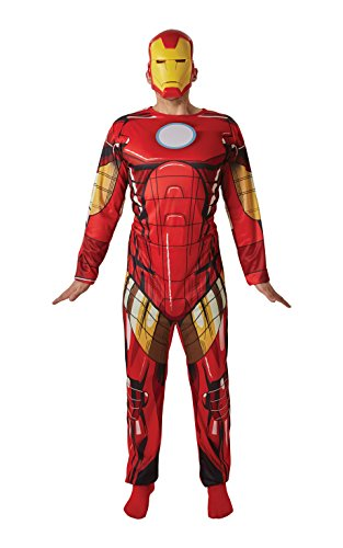 Rubie 's Offizielles 's Marvel Iron Man Classic Kostüm für Erwachsene–Standard