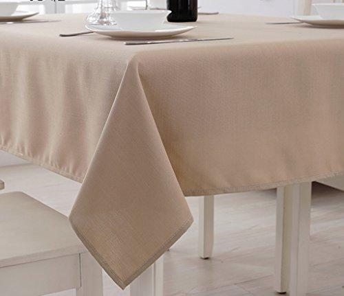 Tischdecken Hotel runden Tischtuch, Baumwollleinentischtuch Einfarbig, Restaurant Tischdecken,...