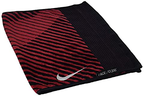 Nike Face/club Jacquard Towel III - Couleurs : Black/White/Gym Red, Tailles : Unique