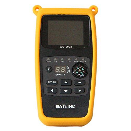 Buscador de satélites Digital Satlink WS 6933 HD DVB S para Acampada + Aparato de medición EUDVB S2 8PSK Sat
