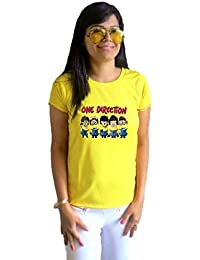 LetsFlaunt One Direction Minions T-shirt Girls Yellow Dry-Fit Nw