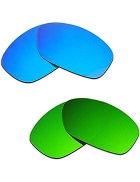 Hkuco Plus Mens Replacement Lenses For Oakley Pit Bull Blue/Green Sunglasses