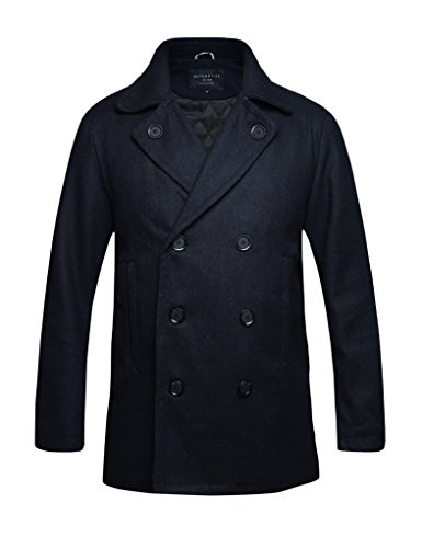 Match Herren Wolle Slim Maentel #010 1061 Dunkel blau ...