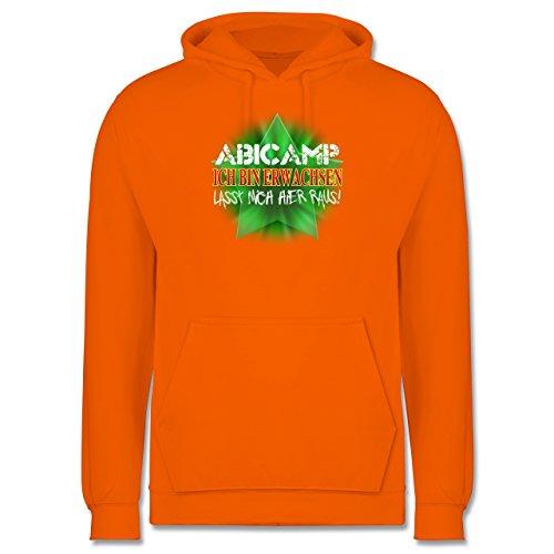 Abi & Abschluss - ABICAMP - ich bin erwachsen lasst mich hier raus! - Männer Premium Kapuzenpullover / Hoodie Orange