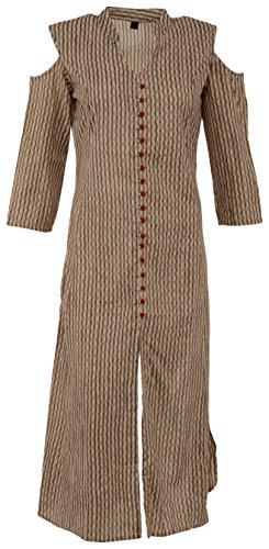 MAA VD Women's Cotton Achkan Kurta (MAAVDK011BPRINT--XXL, Beige, XX-Large)