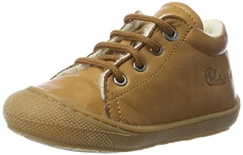 Naturino Baby Jungen 3972 Sneaker, Braun (Braun-9103), 21 EU - Schaffell Baby Booties