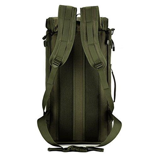 Imagen de huntvp  de asalto estilo militar táctical 3 vías de accesorios modulares 50l gran bolsa impermeable de nylon para las actividades aire libre senderismo caza viajar color negro marrón verde alternativa