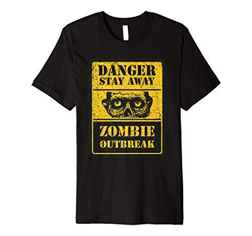 Zombie Halloween Kostüm T-Shirt Danger Stay Away