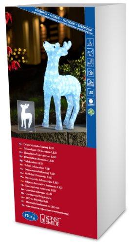 Konstsmide 6121-203 LED Acrylfigur Rentier für Außen