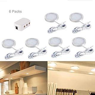 6 stücke Innen LED Dach Spot Lights Unter Kabinett Leuchte mit Splitter Adapter für DC 12 V RV Camper Caravan Boat Küche Wohnzimmer (warmes Weiß)