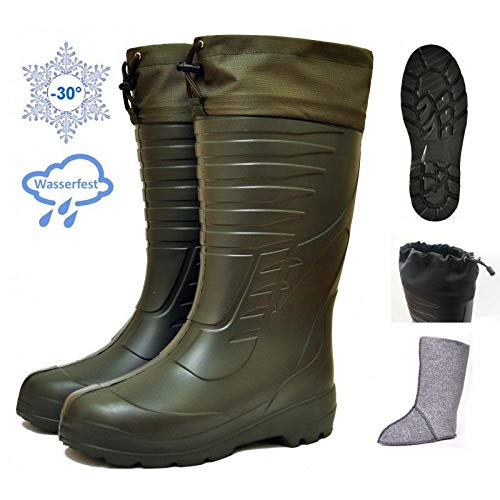 DD-Tackle Eva Thermostiefel -30°C + Filz Innenschuh Jagd Angel Angler Thermo Winter Stiefel Anglerstiefel Angelstiefel Jagdstiefel (43)