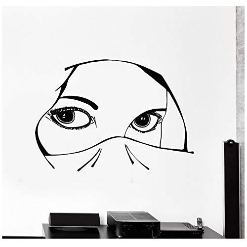 Neues Design Vinyl Aufkleber Aufkleber Augen Arabisch Schöne Frau Mädchen Dekoration Für Schlafzimmer Abnehmbare Kunst Mural83x56cm