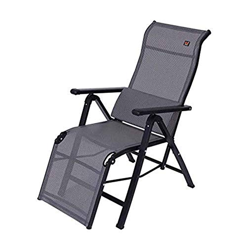 lining Chairs Grau Klappbarer Verstellbarer Stuhl Sonnenliege Schwerelosigkeit Mittagspause Büro Lendenkissen ()