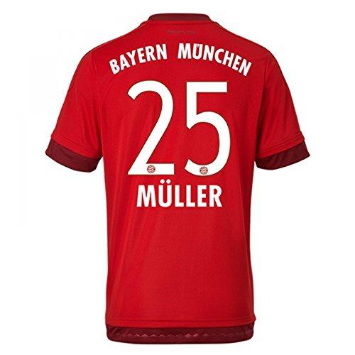 "adidas Herren Spieler-Heimtrikot FC Bayern München Replica (Muller 25, Large 42-44\"" Chest)"