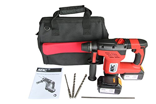 NENZ NZ-80Z 600W 1-3/16' SDS-plus Multi-function Brushless Portable Rotary Hammer with 2 Lithium batteries (Sds Cordless Hammer)
