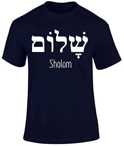 Shalom Peace Gospel Christian Religious Men T shirt- Black, Navy or Red Colour Men T shirt - Christian Easter Christmas Gospel Religious Gift Men T-shirt