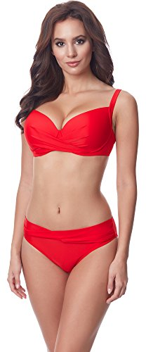 Merry Style Damen Bikini Set P654-25TSG(Rot, Cup 80 C/Unterteil 40)