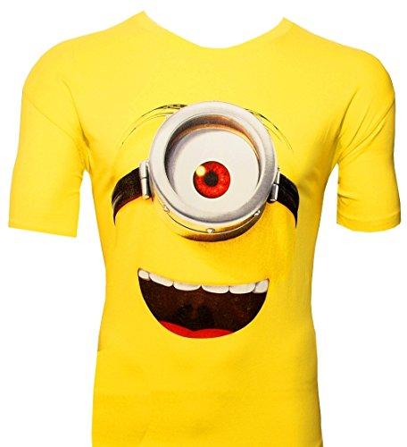 Jerry Tragen Kostüm - T-Shirt Minions: Stuarts lachendes Gesicht
