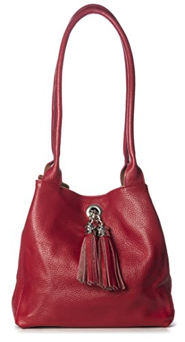 Big-Handbag-Shop-Womens-Real-Leather-with-Reversible-Suede-Leather-Medium-Slouch-Shoulder-Bag-with-Tassel