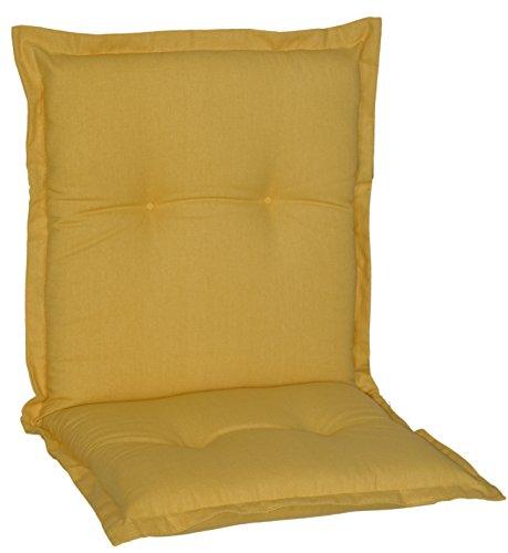 Gartenstuhlauflage Sitzkissen Polster für Niederlehner in lila strukturiert Premium Bezug aus 60%...