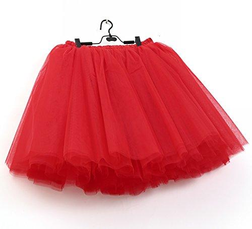 (SCFL Frauen Tutu Rock Petticoat Underskirt Ballett Rock Half Slip)