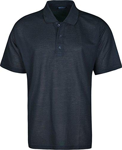 Schlichter Herren Polo Shirt Short Sleeves Schwarz - Schwarz