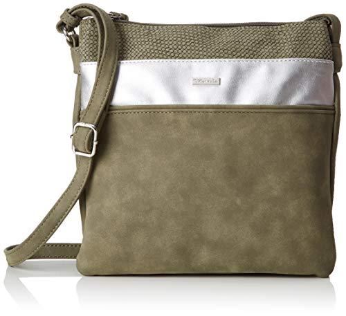 Tamaris Damen Khema Crossbody Bag M Umhängetasche, Grün (Khaki Comb), 2.5x24x25 cm - Khaki Handtasche