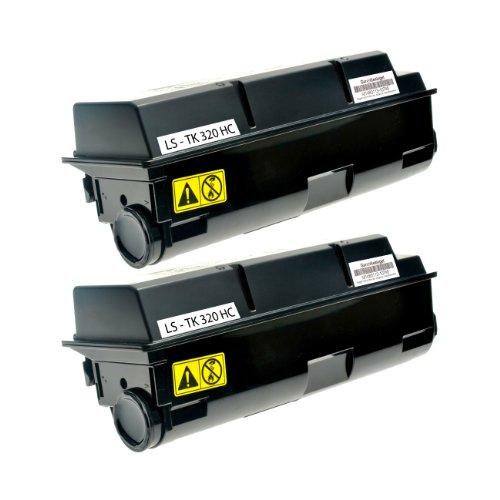 Preisvergleich Produktbild Logic-Seek Toner für Kyocera TK320 1T02F90EU0, je 15000 Seiten, schwarz
