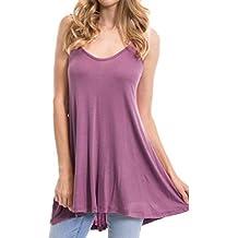 Camisas Mujer Verano, ❤️LANSKIRT❤ Chaleco Tops de Halter para Mujer Camisa de
