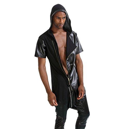 Pizoff Herren Hip Hop High Street Fashion Lang geschnittenes Trägershirt , , P3112-black
