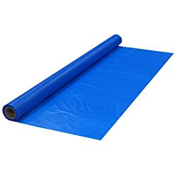 Party Essentials Plastic Banquet Table Roll, 40 x 100, Royal Blue